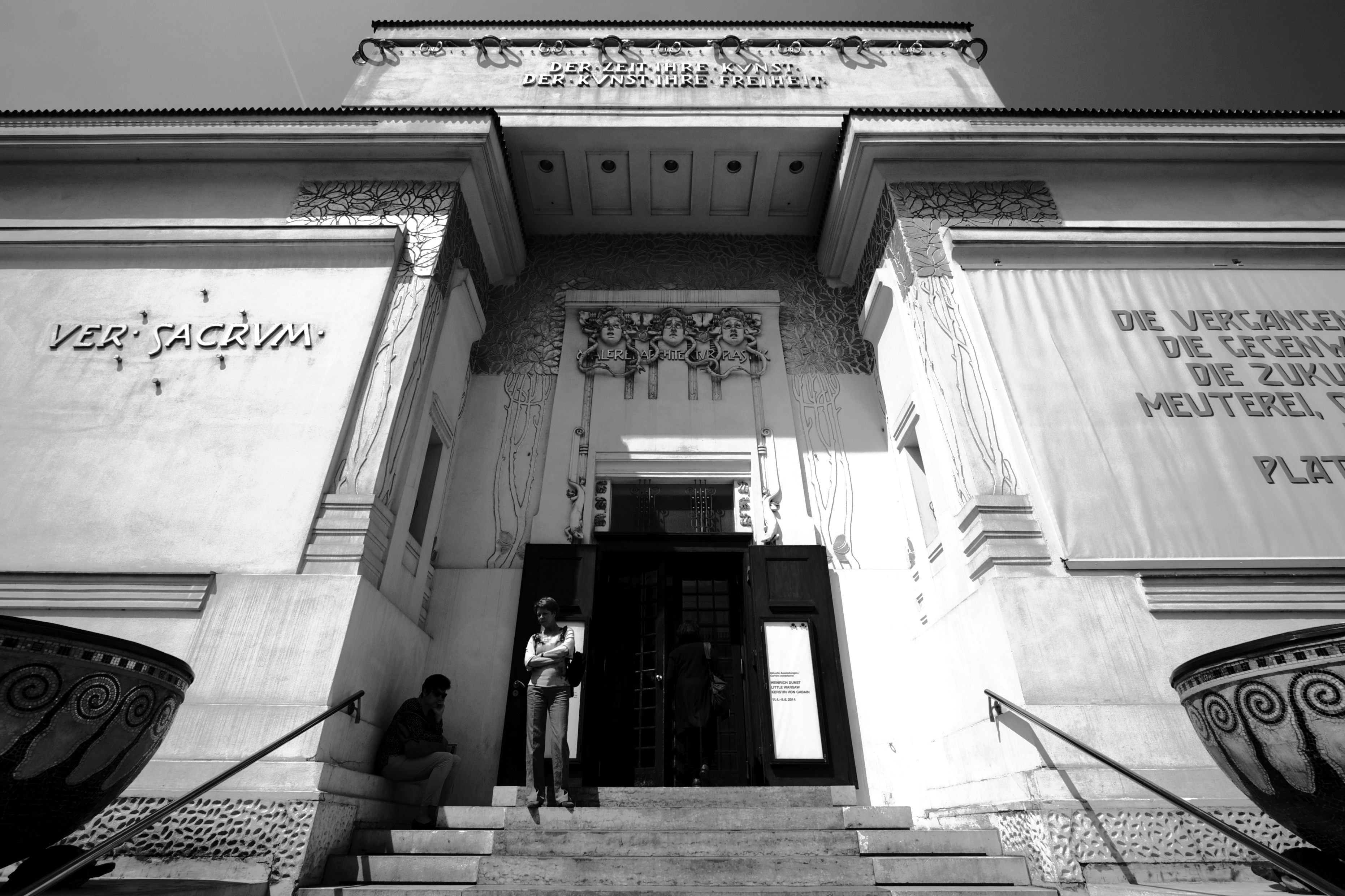 Haupteingang. Secession Wien.
